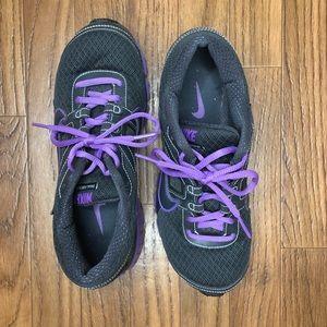 NIKE women's purple and gray running shoes